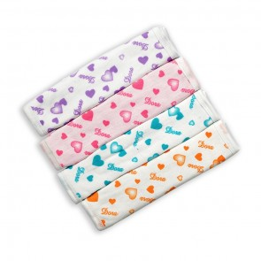 Cuby Baby Face Towels Pack Of 4 Dora