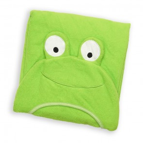 Cuby Baby Bath Towel Frog Green