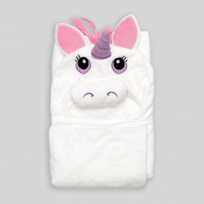 Cuby Baby Bath Towel Unicorn White