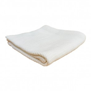 Spun Weave Baby Blanket Off - White