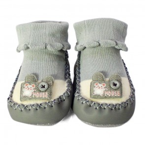 Little Sparks Baby Bootie Mouse Grey