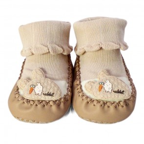 Little Sparks Baby Bootie Rabbit Brown