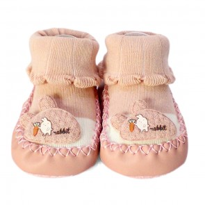 Little Sparks Baby Bootie Rabbit Pink