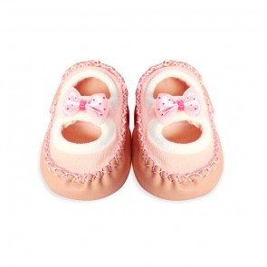 Little Sparks Baby Bootie Light Pink Bow