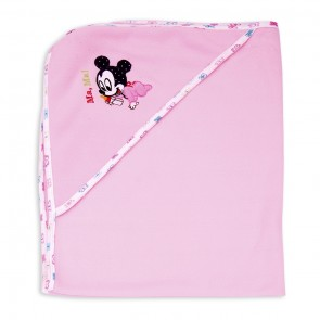 Little Sparks Baby Wrapping Sheet Mickey Pink