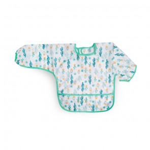 Little Sparks Waterproof Baby Sleeved Bib Green