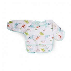 Little Sparks Waterproof Baby Sleeved Bib Blue