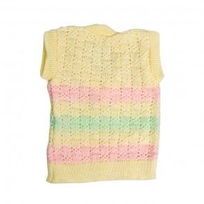 Little Sparks Baby Sleeveless Sweater Yellow (0-3 Months)