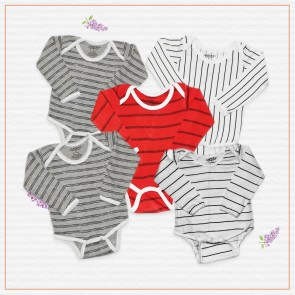 Wonder Child Pack Of 5 Multicolor Bodysuit