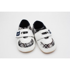 Wonder Child Baby Shoes Check White