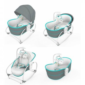 Mastela 5 in 1 Rocker Bassinet Grey & Blue