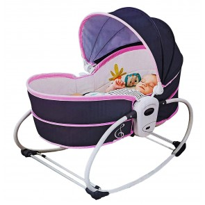 Mastela 5 in 1 Rocker Bassinet Grey & Pink