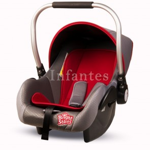 Bright Starts Baby Carry Cot Red