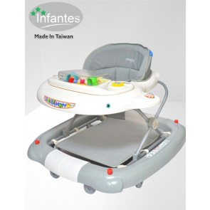 Infantes Baby Walker Grey & White