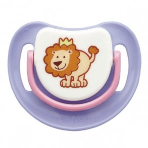 PIGEON SILICONE PACIFIER STEP 1 (PURPLE)