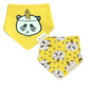 Little Star Bandana Bib Pack Of 2 Panda Yellow