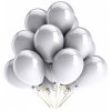 Little Sparks Birthday Balloons 100pcs Silver